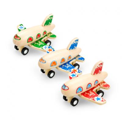 Pino Toys drevené naťahovacie Lietadlo