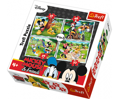 Puzzle 4v1 Mickey Mouse