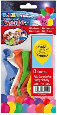 Balóny Happy Birthday 8ks